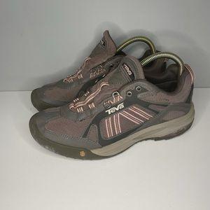 Teva Womens Hiking Shoes Brown 4048 Low Top Lace Up Waterproof Sneakers 9.5M